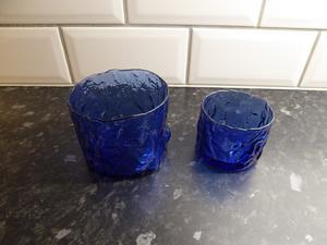 Koboltblå Skålar