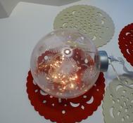 Glasboll med belysning
